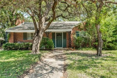 Fort Worth Single Family Home For Sale: 632 Eastwood Avenue