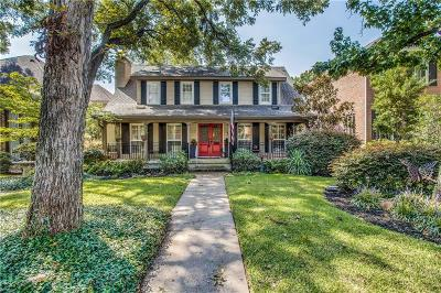 Highland Park, University Park Single Family Home For Sale: 3211 Amherst Avenue