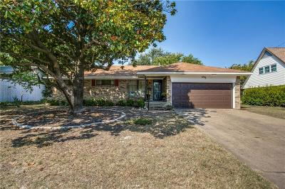 Plano Single Family Home Active Option Contract: 1413 Hillside Drive