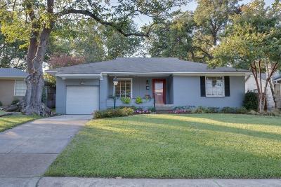 Dallas Single Family Home For Sale: 6443 Vanderbilt Avenue