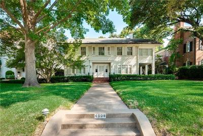 Highland Park, University Park Single Family Home For Sale: 4008 Gillon Avenue