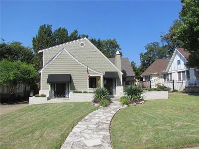 Fort Worth Single Family Home For Sale: 1906 Tremont Avenue