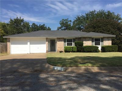 Euless Single Family Home Active Option Contract: 602 Shelmar Drive