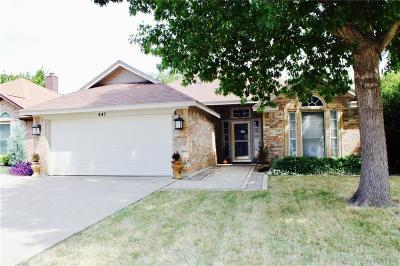 Keller Single Family Home For Sale: 447 Pebblecreek Drive