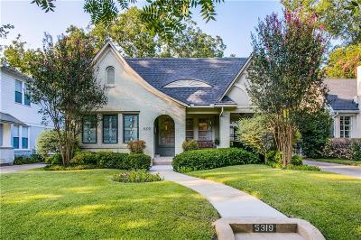 Dallas Single Family Home For Sale: 5319 Vanderbilt Avenue