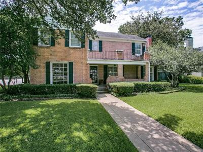 Highland Park, University Park Single Family Home For Sale: 4101 Hanover Street