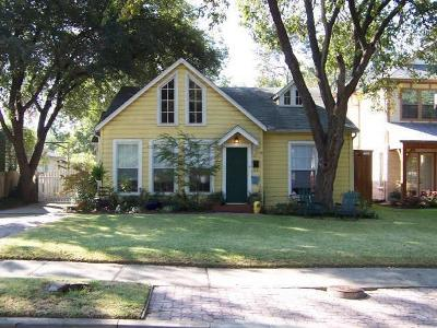 Dallas Single Family Home For Sale: 6138 Vanderbilt Avenue