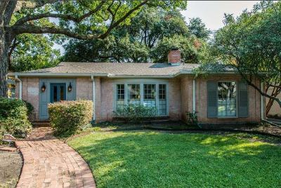 Highland Park, University Park Single Family Home For Sale: 4629 Belclaire Avenue
