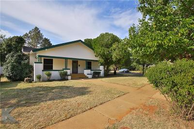 Abilene Single Family Home For Sale: 1789 N 16th Street