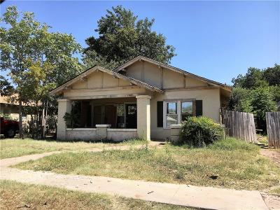 Abilene Single Family Home For Sale: 1149 Palm Street