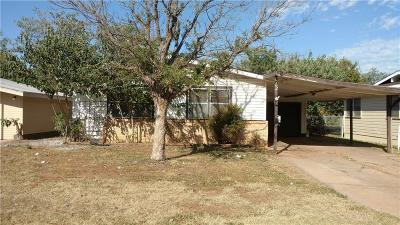 Abilene Single Family Home For Sale: 1702 N Mockingbird Lane