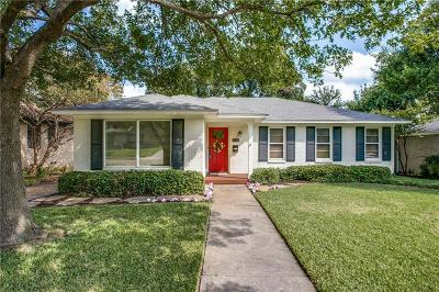 Dallas Single Family Home Active Option Contract: 6541 Winton Street