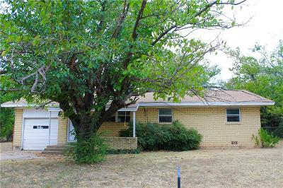 Stephenville TX Single Family Home For Sale: $110,000