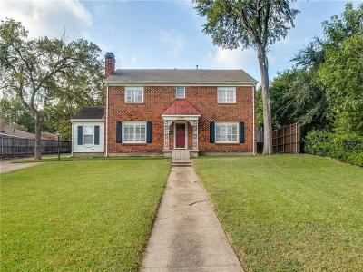Single Family Home For Sale: 6936 Gaston Avenue