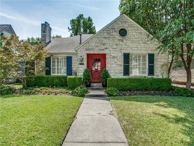 Dallas Single Family Home For Sale: 5510 Stanford Avenue