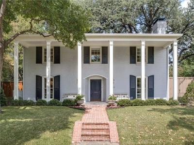 Highland Park, University Park Single Family Home For Sale: 4660 Edmondson Avenue