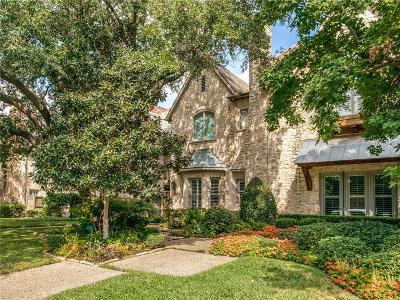 Highland Park, University Park Townhouse For Sale: 3538 Granada Avenue