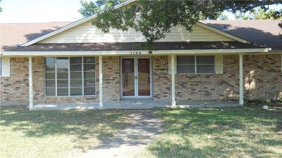 Single Family Home For Sale: 1120 Reed Circle
