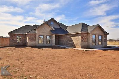 Abilene Single Family Home For Sale: 233 Kristie Path