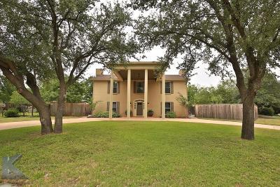 Abilene Single Family Home For Sale: 1749 Lytle Shores Drive