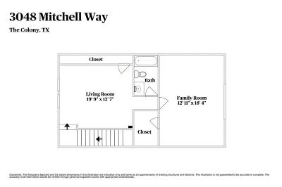 The Colony Single Family Home For Sale: 3048 Mitchell Way
