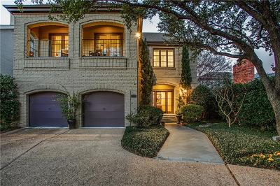 Highland Park TX Single Family Home For Sale: $1,492,500