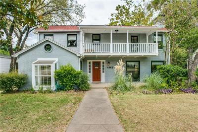 Dallas Single Family Home For Sale: 6863 Gaston Avenue