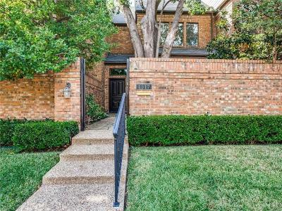 Highland Park Townhouse For Sale: 4517 Westside Drive