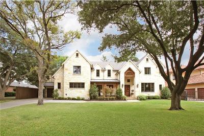 Dallas Single Family Home Active Option Contract: 4303 Valley Ridge Road