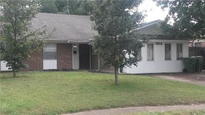 Garland Single Family Home Active Option Contract: 4514 Fordham Drive