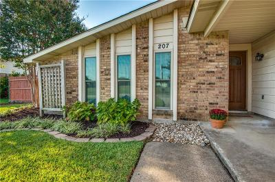 Coppell Single Family Home Active Option Contract: 207 Woodhurst Drive