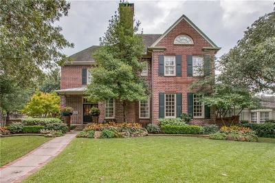 Dallas, Highland Park, University Park Single Family Home For Sale: 3201 Amherst Avenue