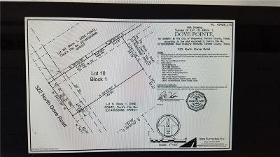 Grapevine Residential Lots & Land Active Option Contract: 322 N Dove Road