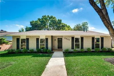Garland Single Family Home Active Option Contract: 2906 Branch Oaks Drive