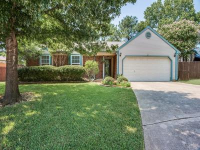 Grapevine Single Family Home Active Option Contract: 1815 Fall Court