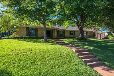 Benbrook Single Family Home Active Option Contract: 7258 River Valley Court