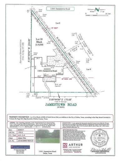 Dallas Residential Lots & Land For Sale: 11011 Jamestown Road