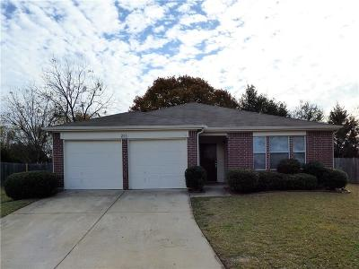 Seagoville Single Family Home Active Option Contract: 201 Oakhurst Drive