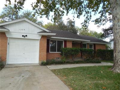 Garland Single Family Home Active Option Contract: 1229 McDonald Drive