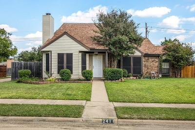 Lewisville Single Family Home Active Option Contract: 2411 Cypress Drive