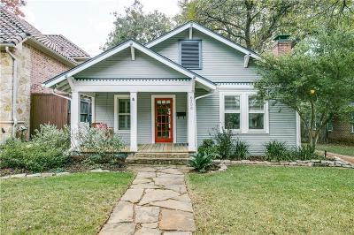 Dallas Single Family Home For Sale: 6206 Lakeshore Drive