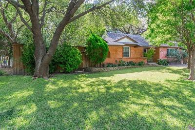 Dallas Single Family Home For Sale: 10716 Lake Gardens Drive