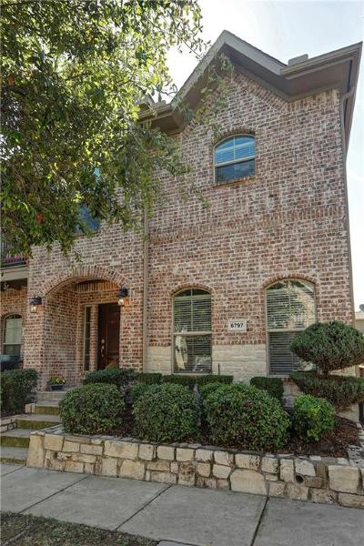 Frisco Townhouse Active Option Contract: 6797 Cortona Lane