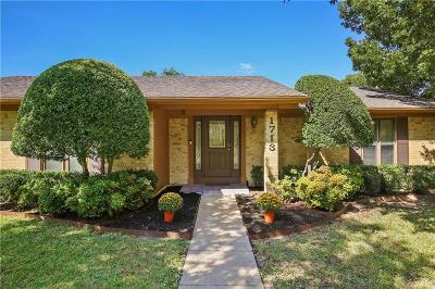 Richardson Single Family Home Active Option Contract: 1713 Aurora Drive