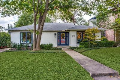 Dallas Single Family Home For Sale: 6940 Kenwood Avenue