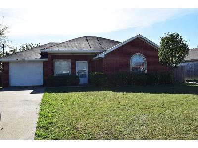 Kaufman Single Family Home Active Option Contract: 1101 Melody Circle