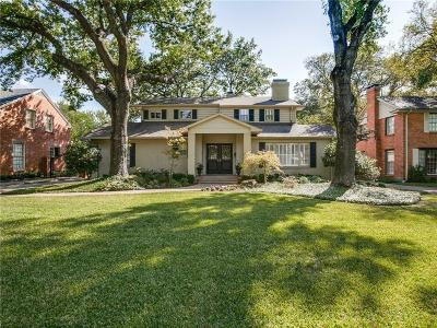 Dallas Single Family Home For Sale: 5430 W University Boulevard