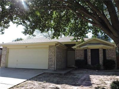 Parker County Single Family Home Active Option Contract: 229 Lancelot Drive