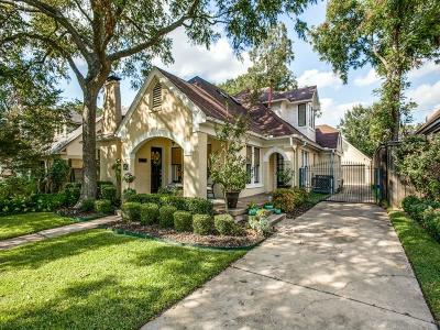 Dallas Single Family Home For Sale: 5145 Vanderbilt Avenue