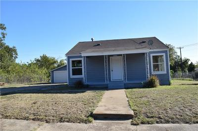 Fort Worth TX Single Family Home For Sale: $85,000